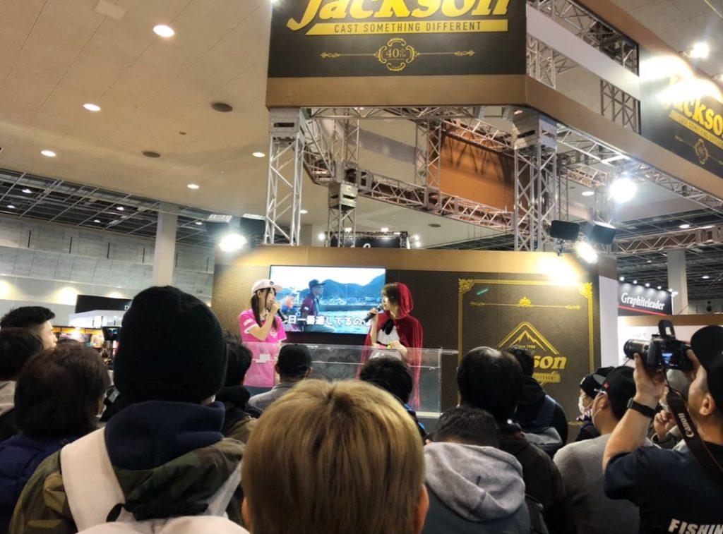 フィッシングショー大阪2020のりんかちゃんとのトークショーおかげさまで大盛況でした~♪